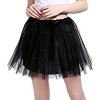 InnoBase Tutu Damen Rock Tüllrock 50er Kurz Ballet 3 Layers Tanzkleid  Zubehör für Frauen Mädchen 8 6e17715f4e