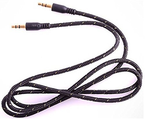 3.5mm Male To Male AUX Audio Stereo Cable (1M) – for iPhone, iPods, Smartphones, Android Phones, Tablets & MP3 players to a Car Stereo, Portable Speaker or Other (Multicolour)