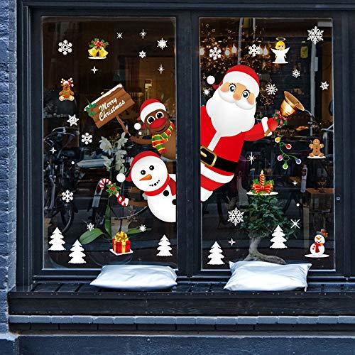 Wandaufkleber Weihnachten Restaurant Mall Dekoration Schnee Glas Fenster Abnehmbare Aufkleber Hausgarten Küchenzubehör dekorative Aufkleber Wandbilder