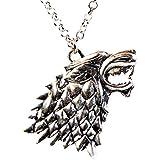 Game of Thrones House of Stark Direwolf Head Pendant Necklace Dark Horse Sigil