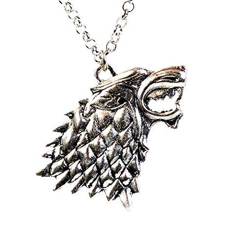 Game Of Thrones Bijoux - Game of Thrones Maison Stark Direwolf Collier