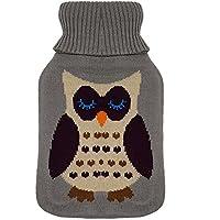 PROHEIM Wärmflasche mit Weichem Überbezug Gummi Wärmeflasche und Strickbezug Wärmkissen Verschiedene Designs und... preisvergleich bei billige-tabletten.eu
