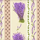 Baumwollstoff | Bündel von Lavendel (Streifen) | 100%