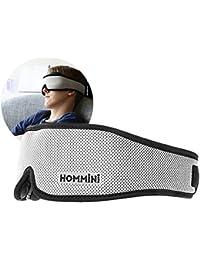 HOMMINI Silk Eye Sleep Mask,3D Breathable Memory Foam Contours Modular Eye Mask for Bedtime/Travel,72CM Anti-Slip Gel Blindfold Sleeping Mask With Ear Plugs,Contoured Snoring Blackout Blinder Rest Aid