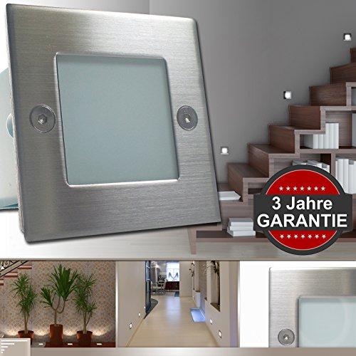 5er Set Wandleuchte GRAZIO LED (1-5er Sets) 230V IP54 ***GARANTIE 3 Jahre*** Wandeinbauleuchte Einbaustrahler Treppenlicht Treppenleuchte 1,5W Warm-Weiß Treppenlicht Treppenleuchte Sicherheitslicht