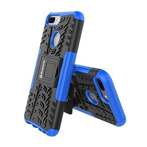 Bracevor HON9LDKSBU Back Case Cover with Kickstand for Honor 9 Lite (Blue)