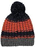 Barts Hume Bommelmütze - Marineblau-Orange - One Size