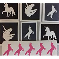 30 x unicorn stencils for glitter tattoos/cakes/many other uses + 10 free unicorn stickers with every order