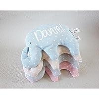 """Saquito térmico de semillas """"elefante"""", para bebé y personalizado. Nuestro saco térmico es ideal para aliviar los cólicos, calentar la cuna y relajar a tu bebé."""
