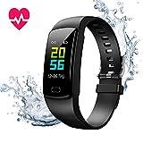 Montre Connectée Cardiofréquencemètre Bracelet Connecté Podomètre GPS Fitness Tracker...