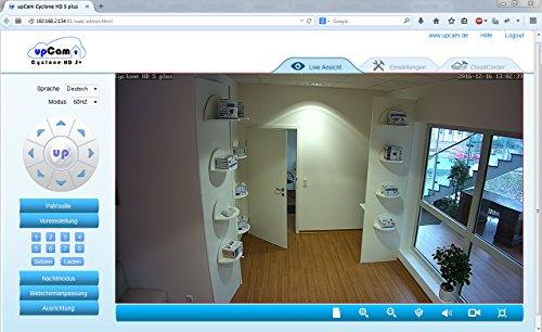 upCam Cyclone HD S+ IP Kamera mit Nachtsicht (mit SONY Exmor FULL HD Sensor 1920×1080 - 6