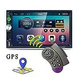 YELLOL Car Stereo Stereo-Host, High-Definition-7-Zoll-Navigation MP5 Dual Barren Auto GPS-Handy Verbunden Bild RK-A7160G Bluetooth Umkehren