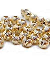 SEXY SPARKLES Women's 10 Pcs Stardust Spacer Beads For Snake Chain Charm