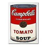 LaMAGLIERIA Andy Warhol - Campbell's Soup - Poster Haute qualité sur Papier Photo Brillant - Formato, 70cmx100cm