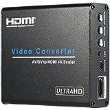 Andoer Composite AV RCA / S-Vidéo vers HDMI Converteur UHD 4K Vidéo & Audio Adapteur Conversion Upscaler pour les DVD STB VCR Consoles de Jeu à la TVHD Moniteur Projecteur