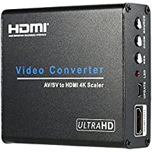 Andoer–Composite AV RCA/S-Video a HDMI converteur UHD 4K video & Audio adaptador para conversión Upscaler para los VCR DVD STB consolas de juego a la TVHD Monitor proyector