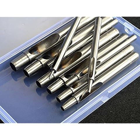 Pack de 101–10mm de sacabocados (Juego de herramientas Kit Puncher cortador de cinturón para de piel correa para reloj Craft Papper recortes en caja de