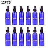ClodeEU 12PC Blue Plastic Spray Bottle Small Spray Bottle with Plastic Sprayer 30ML