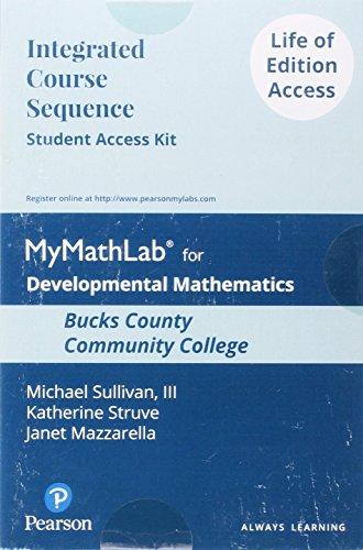 Dev Math: Prealgebra, Elementary Alg, and Intermediate Alg for Bucks County CC- Loe Sak (Positive Health Guide)