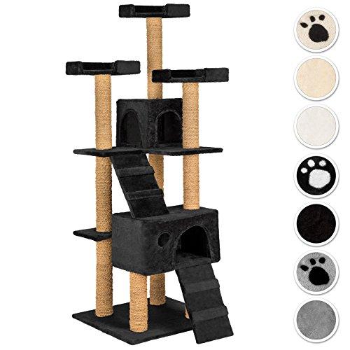 TecTake Tiragraffi per gatto gatti gioco 169cm - disponibile in diversi colori - (nero | No. 402195)