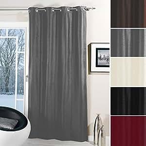 thermo senschal dekoschal vorhang schal blickdicht verdunkelnd 135x245cm grau. Black Bedroom Furniture Sets. Home Design Ideas