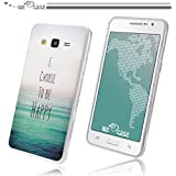 WeLoveCase Casco para Samsung Galaxy Grand Prime G530 Silicona TPU Suave Funda Cascara Protección Anti Polvo Resistente Diseño Creativo Original de Moda Nuevamente (Samsung Grand Prime, dibujo Choose to be happy)