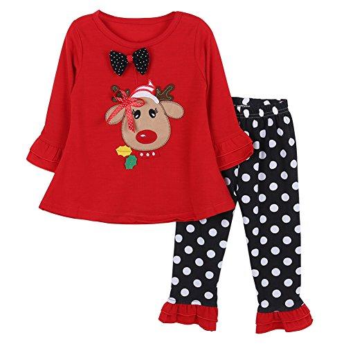 Bornbay Baby 2pcs Kleidung Sets Mädchen Kinder Spielanzug Set Weihnachten Weihnachtsmann Geschenk 0-24 Monate Alter (Kostüme Alten Monate 24)