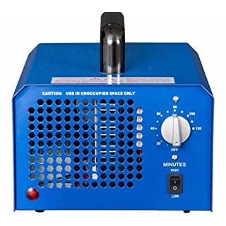 Paramount City 3.5-7.0g/h Adjustable Commercial Ozone Generator Machines Air Purifier Smoke MOLD ODOR REMOVE (Blue)