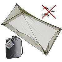 MEIWO Outdoor Polyester Triangle Kompaktes und Leichtes Moskitonetz für Einzelbett