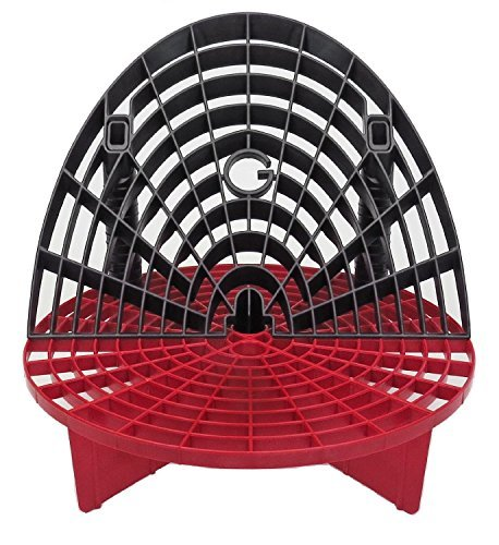 Grit Guard Bucket Insert (Red) with Washboard Bucket Insert (Black) - Separate Dirt From Your Sponge While Washing Your Car by Grit Guard - Red Grit Guard
