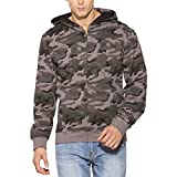 #6: Clifton Mens Army Sweat Shirt with Hood-Steel Grey