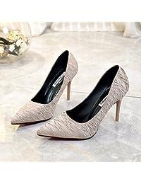 Fente de serrage pour femme Chaussures épais avec talons hauts étanche Unique Chaussures Modèle 旗 走 High Heels Girl, 34, Rouge avec haute 8cm