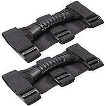 perfk 2X Roll Garb Asideros Grib Hand Holder para Jeep Wrangler Jk Tj Yj Accesorios Electrónicos