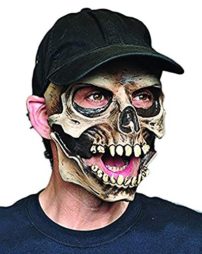 Mask Moving Mouth Skull & Cap ()