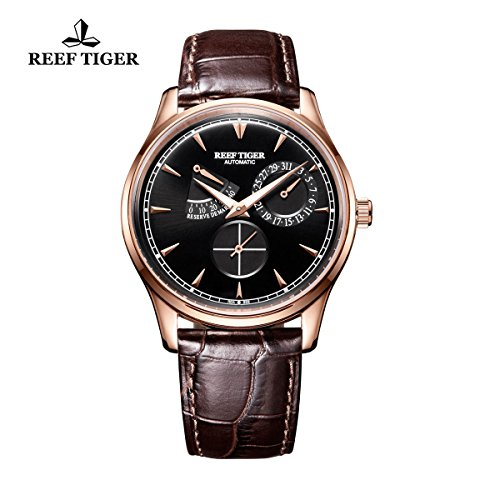 reef-tiger-elegante-power-reserve-calendario-rose-oro-nero-quadrante-mens-orologio-rga1980