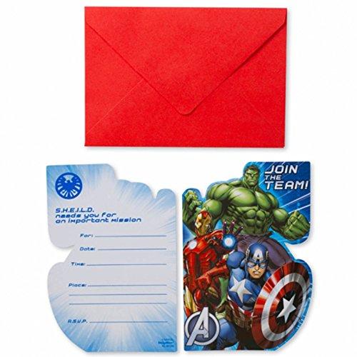 Amscan International Avengers-Einladungen und Umschläge