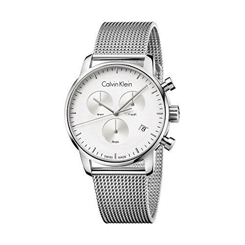 Nuovo da uomo Calvin Klein, City 43mm cronografo Swiss orologio al quarzo Eta K2G27126