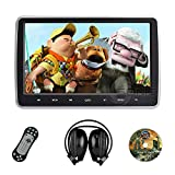 "Sonic Audio � HR-10C - Universal 10.1"" Tablet-Style Clip-On Headrest DVD Player/Screen with USB/SD/HDMI and Wireless Infrared Headphones - Plug-and-Play Rear-Seat Entertainment System"
