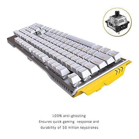 James Donkey Mechanische 104 Keys Gaming Keyboard, Schwarz Tastenschalter (QWERTY),