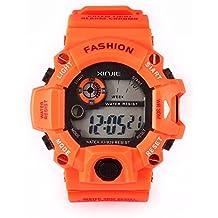 Tongshi Los hombres relojes de cuarzo digital de los deportes del silicón del LED Militar reloj