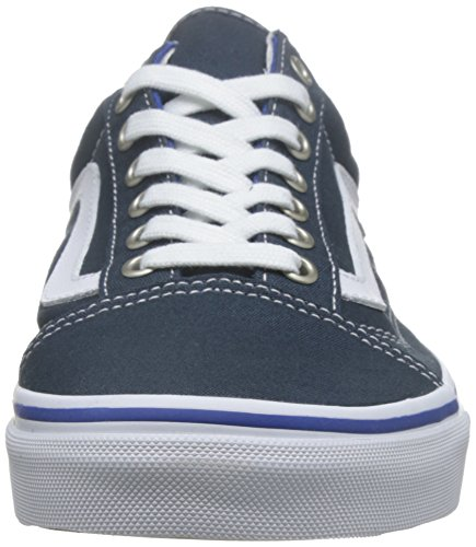 Vans Old Skool, Baskets Basses Mixte Adulte Bleu (midnight navy/true white)
