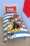 Paw Patrol pawsome Panel Print Bettbezug-Set, Polyester-, mehrfarbig, Single