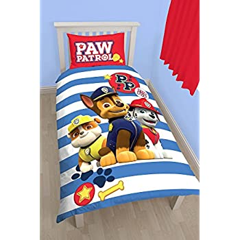 PAW PATROL Pawsome Rotary Print Bettbezug-Set, Polyester