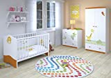 Polini Kids Babyzimmer Kinderzimmer komplett Set L Basic Modell Jungle 4-teilig mit...