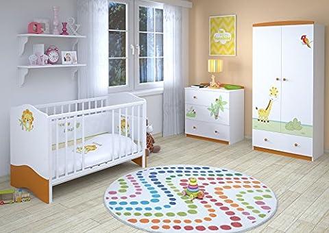 Polini Kids Babyzimmer Kinderzimmer komplett Set L Basic Modell Jungle