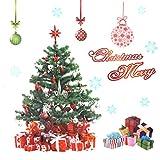 Sourcingmap-Albero di Natale artificiale in PVC Home-Adesivo decalcomania da parete fai-da-te per decorazioni