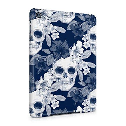 Tropical Blumen Pirate Skulls Pattern Indie Hype Hipster Rad Tumblr Dünne Rückschale aus Hartplastik für iPad Mini 1 Tablet Hülle Schutzhülle Slim Fit Case Cover