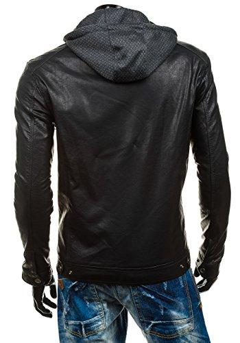 BOLF – Veste á capuche – Fermeture éclair – EXTREME EX352 – Homme Noir