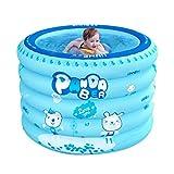 Inflatable bathtub Badewanne Aufblasbares Babyschwimmbecken, Runde Innenbadewanne des Hausbabys, aufblasbarer Swimmingpool der Kinder mit Elektrischer Pumpe (Color : Blue, Size : 100 * 100 * 75cm)