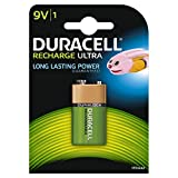Duracell Recharge Ultra Piles Rechargeable 9V 170  mAh, Lot de 1